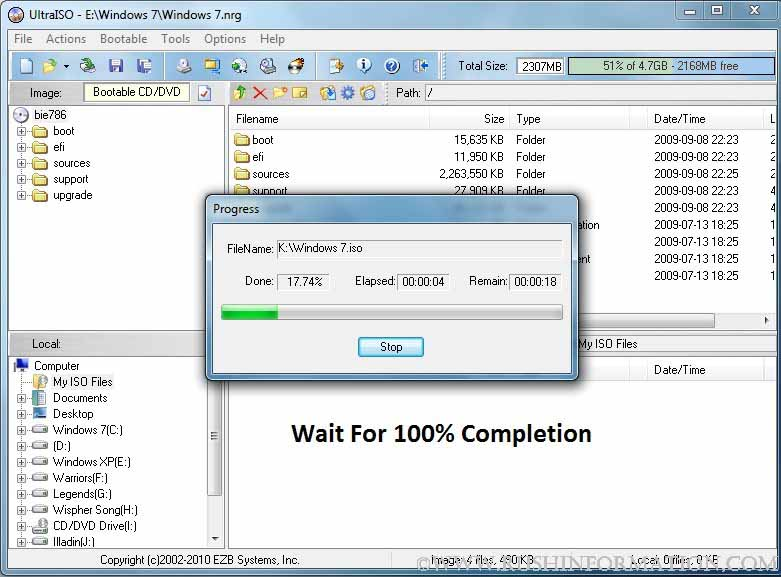 Windows 7 USB DVD Download Tool Not Valid ISO File : FIXED