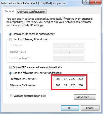 Xp home dns not working