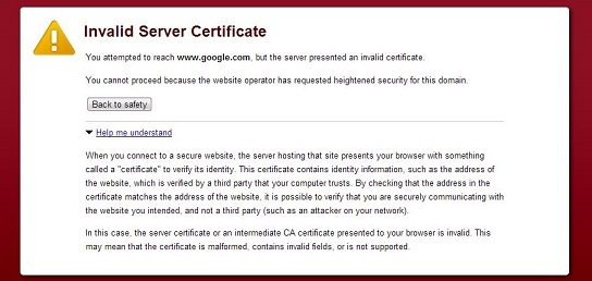 how to fix invalid ssl certificate on mobile